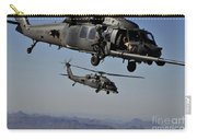 Two Hh-60 Pave Hawk Helicopters Prepare Carry-all Pouch