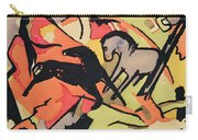 Two Horses Carry-all Pouch by Franz Marc