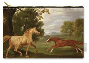 Two Horses In A Landscape Carry-all Pouch