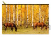 Two Horses In The Colorado Fall Foliage Carry-all Pouch