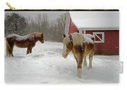 Two Horses In Winter Carry-all Pouch