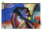 Two Horses Red And Blue 1912 Carry-all Pouch