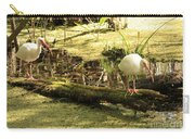 Two Ibises On A Log Carry-all Pouch