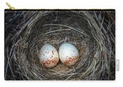 Two Junco Eggs In The Nest Carry-all Pouch