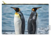 Two King Penguins Facing In Opposite Directions Carry-all Pouch
