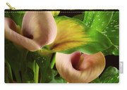 Two Lily With Leaf Carry-all Pouch