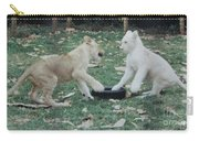 Two Lion Cubs Playing Carry-all Pouch