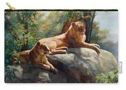 Two Lions - Forever And Always Together Carry-all Pouch