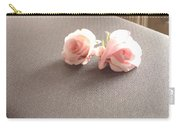 Two Little Pink Roses Carry-all Pouch