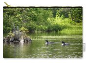 Two Loons Near Old Stump Carry-all Pouch