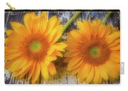 Two Lovely Sunflowers Carry-all Pouch