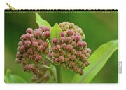 Two Milkweed Flowers Buds  Carry-all Pouch