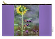Two Monarch Butterflies And Sunflower 2011 Carry-all Pouch
