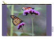 Two Monarchs On Verbena Carry-all Pouch