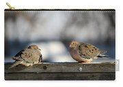 Two Mourning Doves Carry-all Pouch