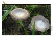 Two Mushrooms In Grass Carry-all Pouch