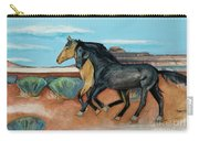 Two Mustangs Carry-all Pouch