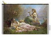 Two Nymphs By The Water Hans Zatzka Carry-all Pouch