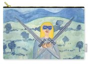 Two Of Swords Illustrated Carry-all Pouch