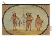 Two Ojibbeway Warriors And A Woman Carry-all Pouch