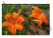Two Orange Daylilies Carry-all Pouch