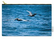 Two Pelicans Flying Carry-all Pouch