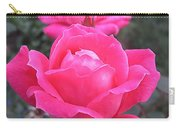 Two Pink Double Roses Carry-all Pouch