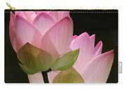 Two Pink Lotus Carry-all Pouch