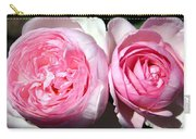 Two Pink Roses Carry-all Pouch