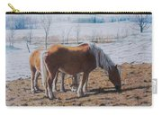 Two Ponies In The Snow Carry-all Pouch