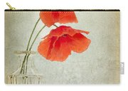 Two Poppies In A Glass Vase Carry-all Pouch