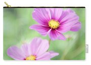 Two Purple Cosmos Flowers Carry-all Pouch