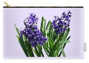 Two Purple Hyacinths Carry-all Pouch