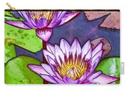 Two Purple Lotus Flower Carry-all Pouch