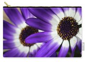 Two Purple N White Daisies Carry-all Pouch