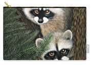 Two Raccoons Carry-all Pouch
