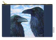 Two Ravens Carry-all Pouch