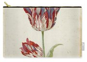 Two Red And White Tulips. Colombijn And Wit Van Poelenburg Carry-all Pouch