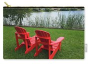 Two Red Chairs Overlooking Lake Formosa Carry-all Pouch