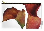 Two Rust Calla Lilies Square Carry-all Pouch