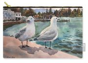 Two Seagulls By The Sea Carry-all Pouch