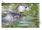 Two Seal Swimming Nature Scene Carry-all Pouch