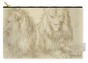 Two Seated Lions Carry-all Pouch