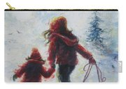 Two Sisters Going Sledding Carry-all Pouch