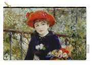 Two Sisters Carry-all Pouch by Pierre Auguste Renoir