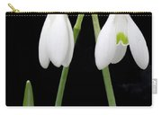 Two Snow Drops Carry-all Pouch