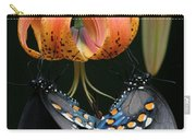 Two Spicebush Swallowtail Butterflies On A Turks Cap Lily Carry-all Pouch