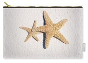 Two Starfish On The White Sand Carry-all Pouch