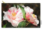 Two Striped Camellias Carry-all Pouch