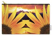 Two Sunflower Sunset Carry-all Pouch